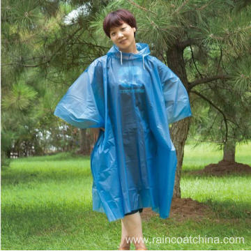 Advertisement PE Disposable Rain Ponchos Wholesale